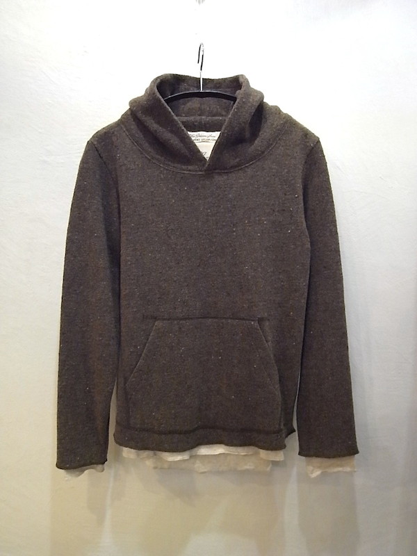 画像1: REMI RELIEF レミレリーフ/ WOOL PLAIN STITCH LAYERED PARKA