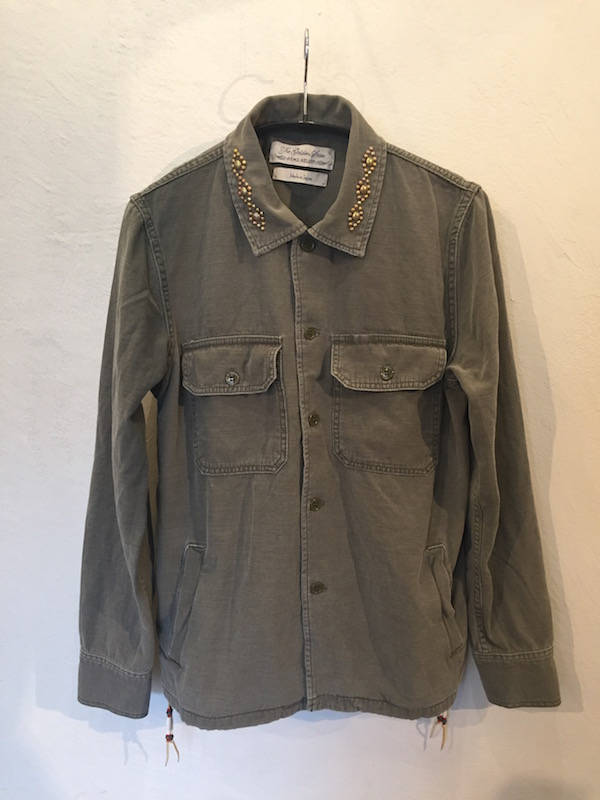 画像1: REMI RELIEF レミレリーフ/ MILITARY SHIRTS -NATIVE STUDS & BEADS-