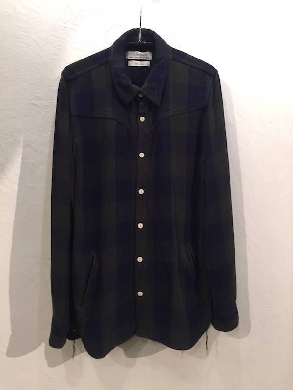 画像1: REMI RELIEF レミレリーフ/ RAYON BLOCK CHECK CPO SHIRTS