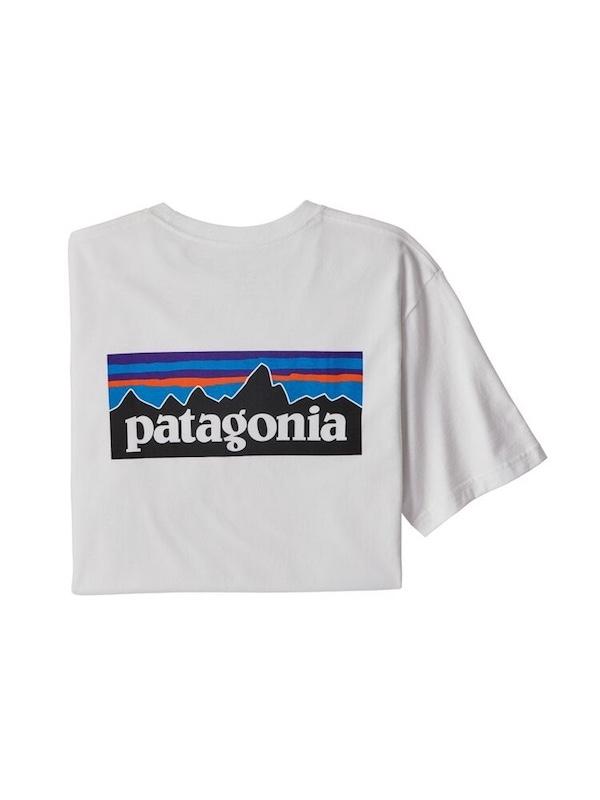 画像1: PATAGONIA パタゴニア/ メンズ・P-6ロゴ・ポケット・レスポンシビリティー WHT